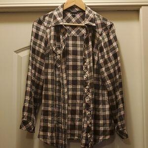 Torrid - Plaid Pretty Button Up Shirt 0X